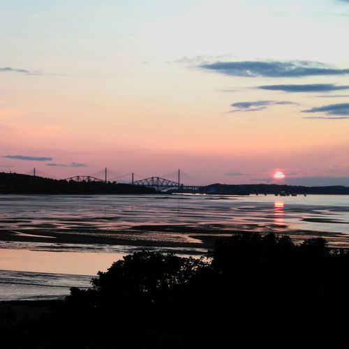 How much for this sunset? I will pay for being there again Cramondisland Bridge Sky Reflections And Shadows Warm Colours
