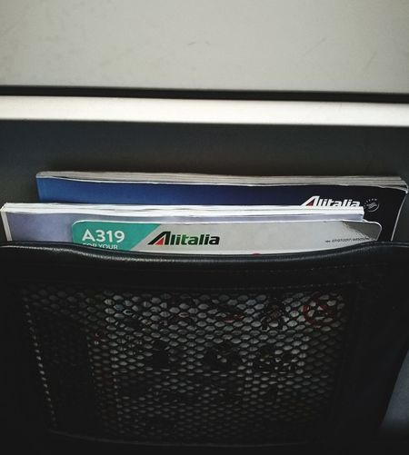 Airbus A319 Alitalia Flying High Style Travelling Travelling Photography Onboard Magazine Seat Paper Currency Currency Newspaper Close-up