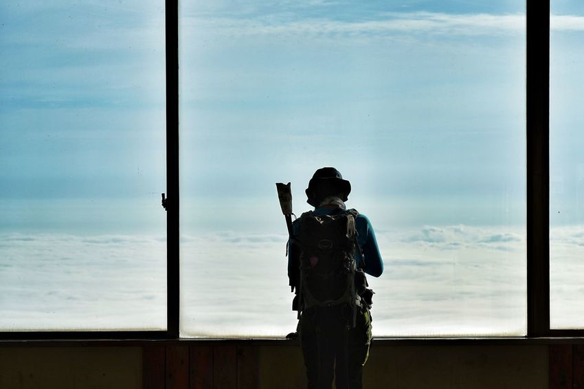 Capture The Moment Sea Of clouds One Person Silhouette Window Shine Bright Sunlight People From My Window Fine Art Photography Tranquility Getting Inspired Depth Of Field Cloud - Sky Hiking Mountain Women Around The World Uzu St. Real People Full Frame Detail Sony A7RII Sigma EyeEm Best Shots 17_10 Lost In The Landscape Connected By Travel EyeEmNewHere Second Acts