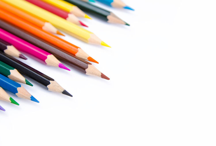 Pencils colorful set, wooden colored pencils isolated on white background, copy space Creativity Graphic Isolated Pencils Set Wood Art And Craft Collection Color Colorful Copy Space Creativity Draw Drawing Frame Large Group Of Objects Multi Colored Pencil Row Sharp Studio Shot Variety White Background Wooden Writing Instrument