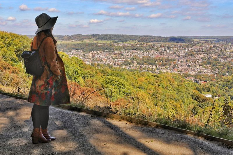 Looking over the City Nature Real People Sky Women Rear View Standing Beauty In Nature Lifestyles Looking Over The City Young People Young Adult Full Length One Person Long Coat Young Women Casual Clothing Leisure Activity Cloud - Sky Looking At View Lady In Hat Looking Over The Lanscape Looking Over Matlock Uk Day Clothing Adult Landscape Architecture Outdoors