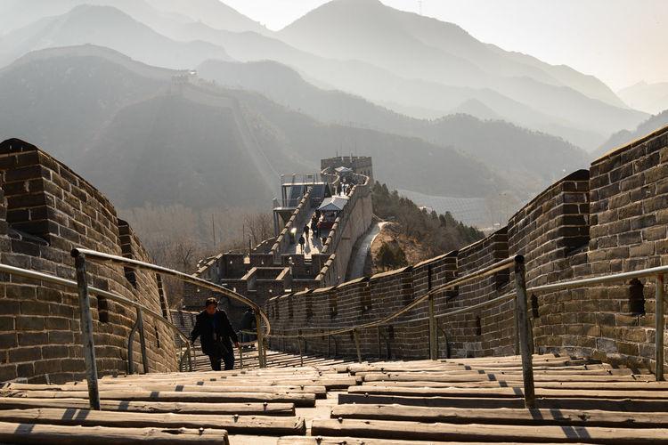 High angle view of bridge