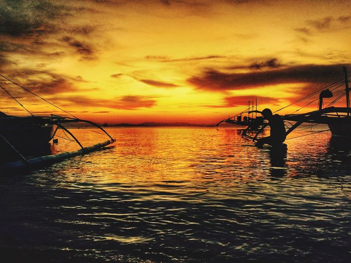 Sunset Sunset Water Sea Sky Scenics Nautical Vessel Beauty In Nature EyeEm Best Shots Eye4photography  IPhoneography Nature Cloud - Sky Tranquility Horizon Over Water Outdoors No People Day