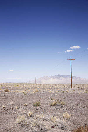 Desert Electricity Pole Emptiness No People Outdoors Sky Vast