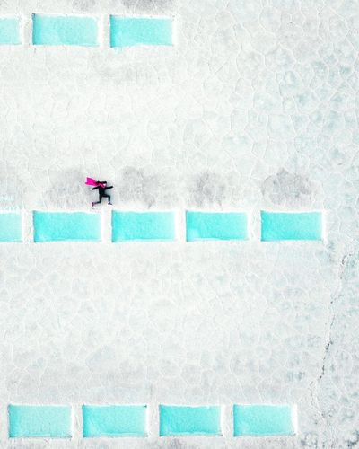 Day Outdoors Dronephotography One Person Travel Destinations Argentina Jujuy, Argentina Salinas Grandes Saltflat Superheroes One Woman Only Supermario Inspirational EyeEm Best Shots EyeEm Nature Lover EyeEm Ready   The Traveler - 2018 EyeEm Awards