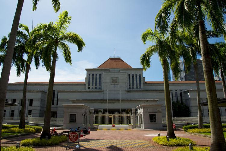 The Parliament of Singapore City Singapore City Parliament Palm Tree Building Government