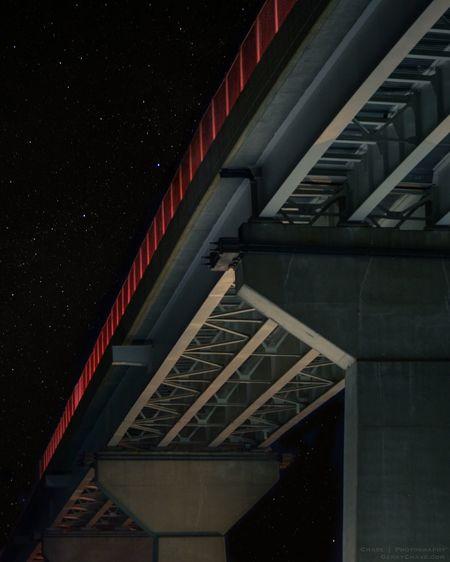 Moving to the left Bridge Night Nightphotography Sky Skyporn Sothernmaryland Southern Maryland Solomon's Island Maryland