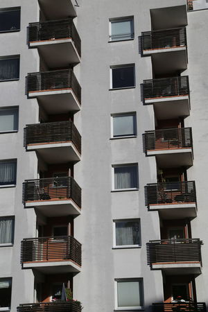 Architecture Balconies Building Exterior Built Structure Day Façade In A Row No People Outdoors Plattenbau