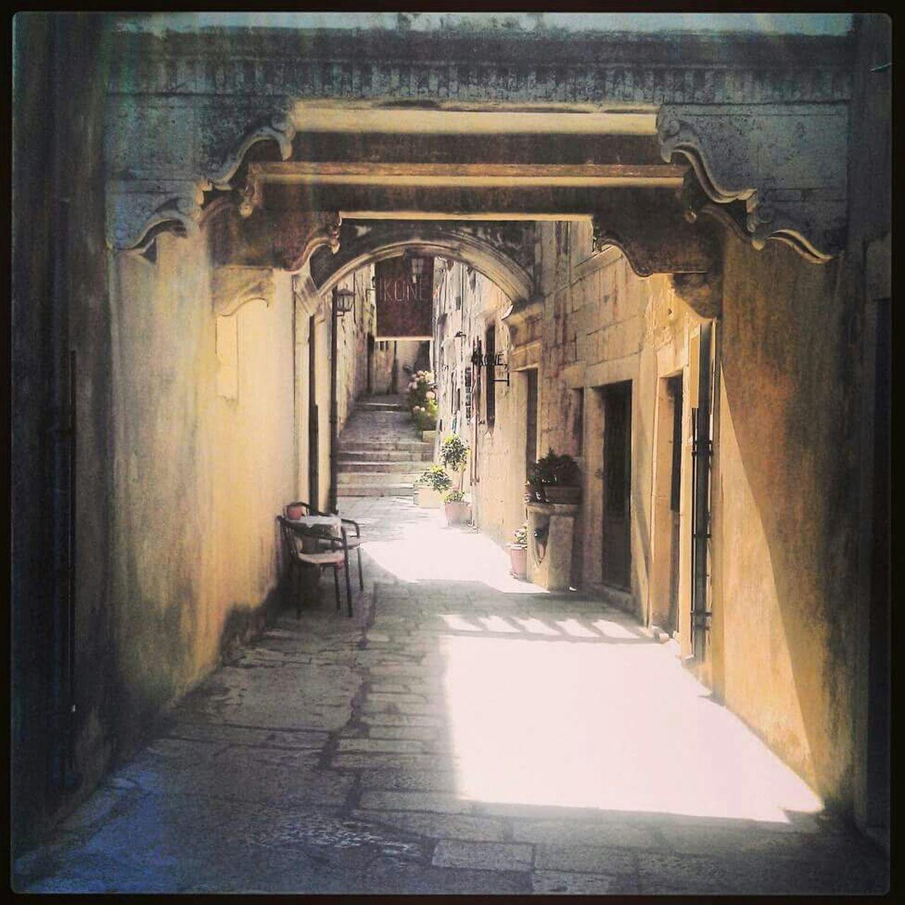 Walkway Amidst Buildings