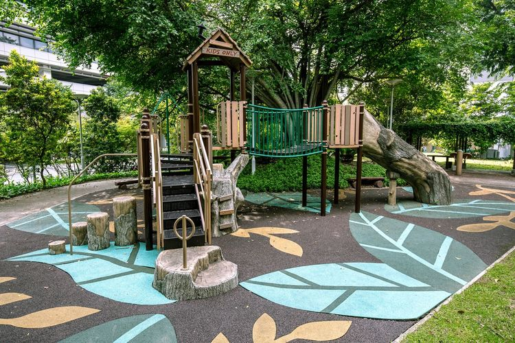 The Forest themed Playground in Rumah Tinggi Eco Park in July 2018. This is the shot without the sunlight flashing down. Forest Playground Public Park Themed Playground No People Outdoor Play Equipment Outdoors Public Places Public Playground