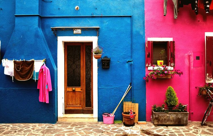 Life in Burano is full of colour Venice, Italy Burano Colourful