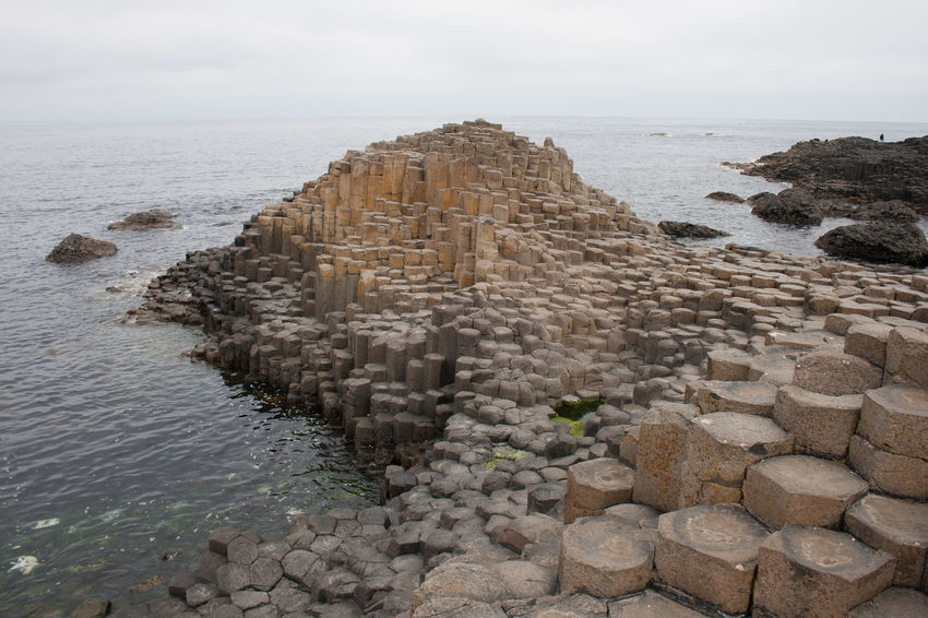 Giant's Causeway Giants Causeway Ireland GiantsCauseway Legendary Travel Travel Photography Travelling Basalt Basalt Columns Basalt Rock Day Giants Causeway Hexaeder History Horizon Over Water Nature No People Outdoors Rock - Object Sea Seaside Shades Of Brown Sky Travel Destinations Water