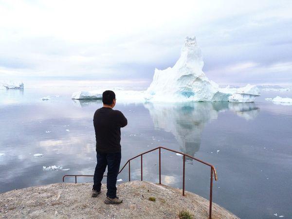 Me Greenland Icebergs Beautiful Photoshoot Seaside Ilulissat