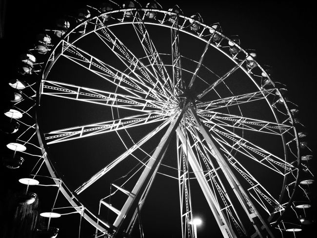 iPhone 4S Shades Of Grey Impossible Moments Ferris Wheel Observation Wheel Negative Space Party Time! Creative Light And Shadow Capture The Moment