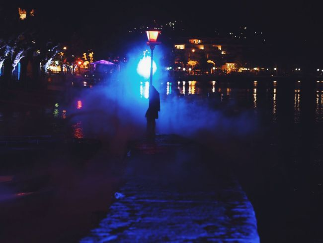 Girl Power Fog On The Lake Street Lamp Seafront Land Lake At Night Lake View Night Streetlights City Colors Outdoors Lake View Woman Standing at Locarno, Switzerland Showcase June Fine Art Photography The Magic Mission
