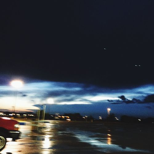 Night in vermillion SD... Beautiful night in Walmart parking lot... That's Me Hanging Out mean jean