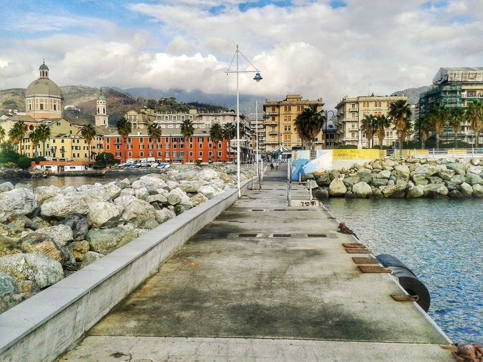 Imbarcadero Navebus. S3 Mini Android Photography Smartphone Photography Genova Pegli Cloud - Sky Sky Day Outdoors No People Architecture Water City