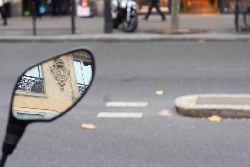 Paris as a feeling City Close-up Outdoors Paris Paris ❤ Paris, France  Reflection Road Street Vehicle Mirror