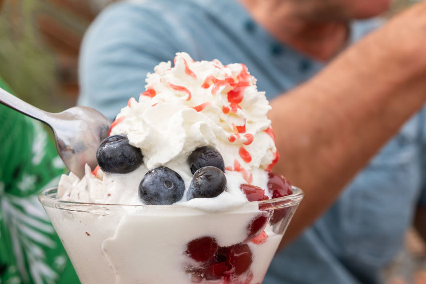 Cherry Cooling  Spoon Vacations Bar Blueberry Close-up Cream Cup Decoration Focus On Foreground Food Food And Drink Freshness Fruits Hand Holding Human Body Part Human Hand Ice Cream One Person Summer Sweet Food Temptation Yogurt