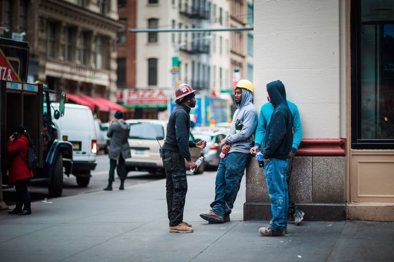 """""""Workers"""" New York New York City Streetphotography"""