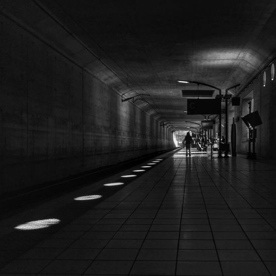 End of the Tunnel 😀 Massy Train Station Suburb of Paris France Photooftheday Picoftheday Platform Moment Shadows Light Bnw Blackandwhite Outofthephone Mobilephotography Iphonephotography EyeEm Best Shots EyeEmBestPics EyeEm IPhoneography Iphoneonly City Streetphotography Perspective People