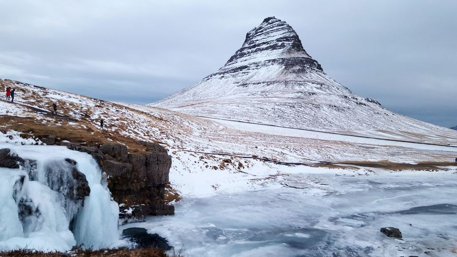 EyeEm Selects Cold Temperature Snow Scenics Tranquility Idyllic Beauty In Nature Landscape Winter Frozen Snowcapped Mountain Tranquil Scene Travel Destinations Iceland Kirkjufell SortingHat Mountain