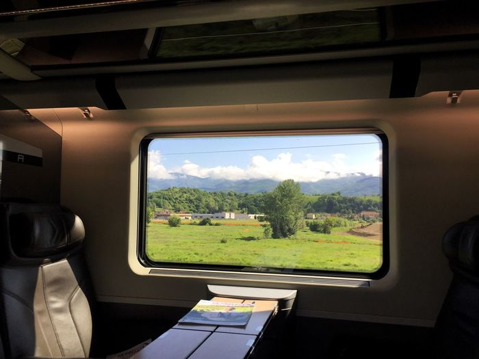 Traveling through Tuscany by train. On The Way FiglineValdarno Frecciarossa Tuscany Countryside View From The Train Window Train Travel Showcase July Eyeemphoto