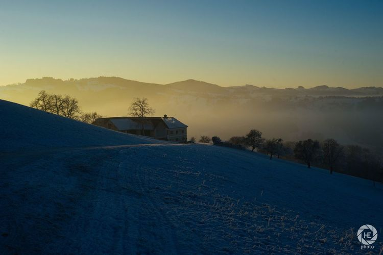 Winter Cold Temperature Snow Beauty In Nature Sky Nature Sunset No People Mountain Outdoors Scenics