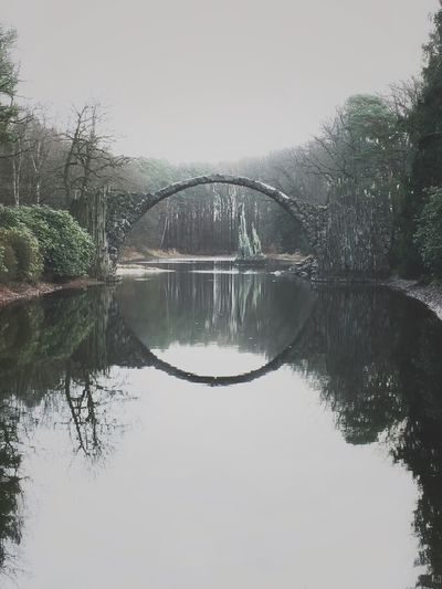 Rakotzbrücke 👌 Reflection Symmetry Architecture Bridge Nature Mirror Photooftheday Photo Iphonephotography EyeEm Best Shots Eye4photography  Like Awesome Photographer Lake Followme
