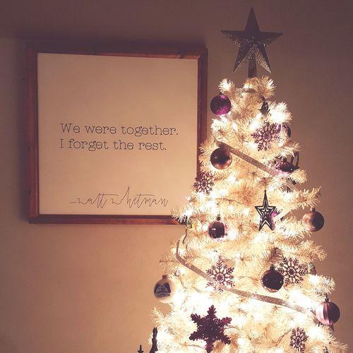 Christmas Christmas Tree Christmas Lights Oh Christmas Tree Walt Whitman