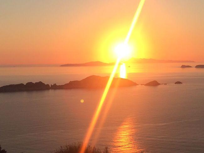 Sunset Reflection Sea Horizon Over Water Islandlife Beauty In Nature Scenics Sunlight Dramatic Sky