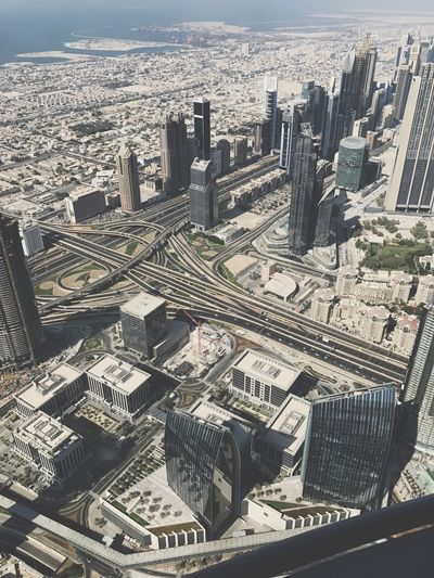 Skyscraper Travel Destinations Urban Skyline Downtown District Sky Higher Place 136floor Dubai Burj Khalifa Onthetop Cityscape Nice Day Mydubai