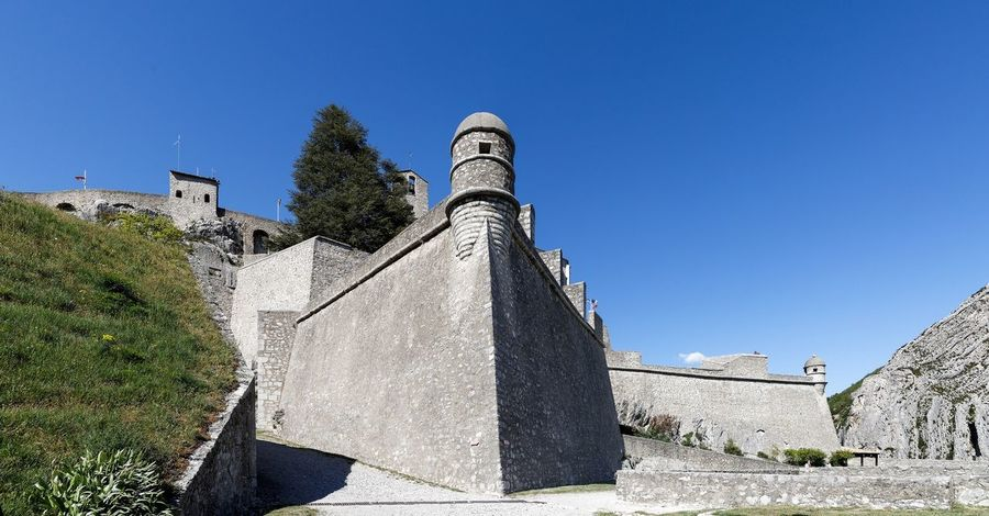 Citadel of Sisteron Sisteron Architecture Building Exterior Built Structure Castle Clear Sky Day Fort History Military No People Outdoors Sky Travel Destinations Tree Vauban War Weapon