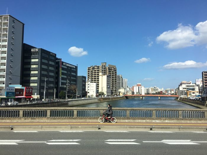 Miles Away Building Exterior City Transportation Day Outdoors Land Vehicle Road Cycling Bicycle Japan Japanese Style