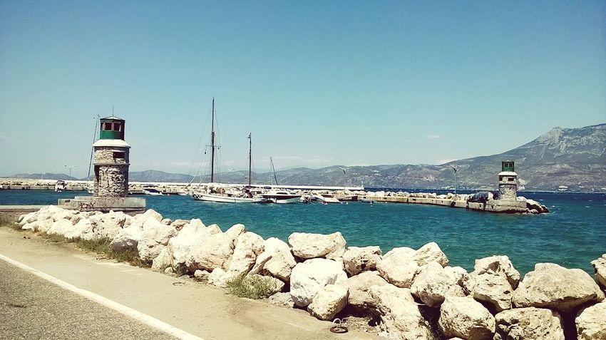 Corinthos, Greece. Sea And Sky Sea Ocean Greece Corinth Greece Corinthos Europe Trip Beauty Blue Blue Sky Sky Summer Vacation