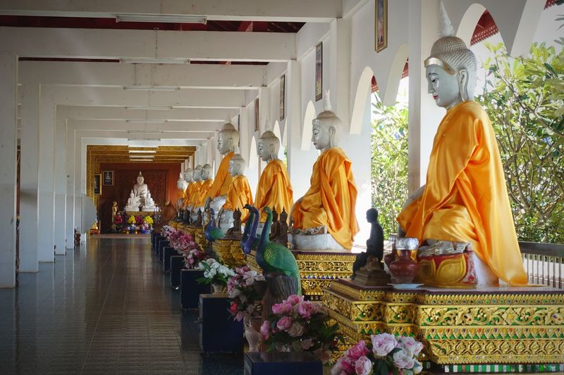 Inner Peace Yellow Robe Thailand Chiang Mai Mae Taeng Wat Ban Den Buddha Statue Buddha Religion Spirituality Statue Male Likeness Sculpture Human Representation Art And Craft Place Of Worship Travel Destinations