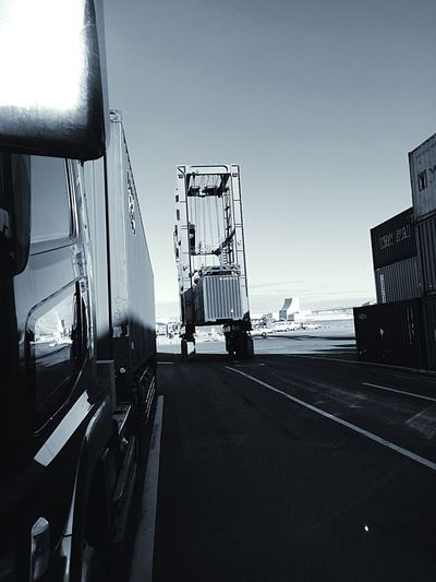 Crane Truck Monochrome Container EyeEm Blackandwhite Truck Hi! EyeEmBestPics EyeEm Best Shots Eye Em Around The World Streamzoofamily