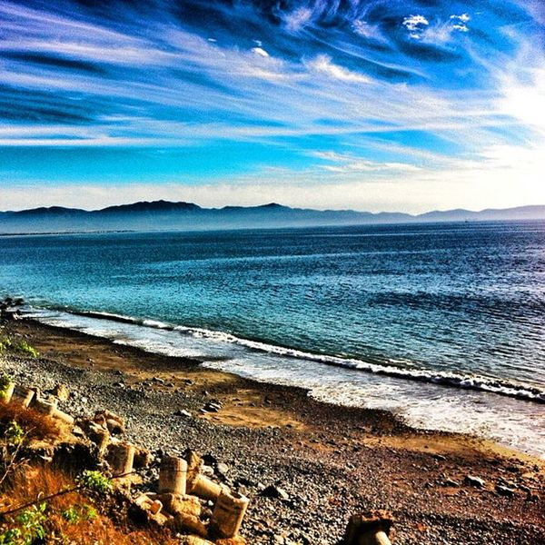 Wednesday Ensenada Sea Mar blue sky cloud iphone pics baja1000
