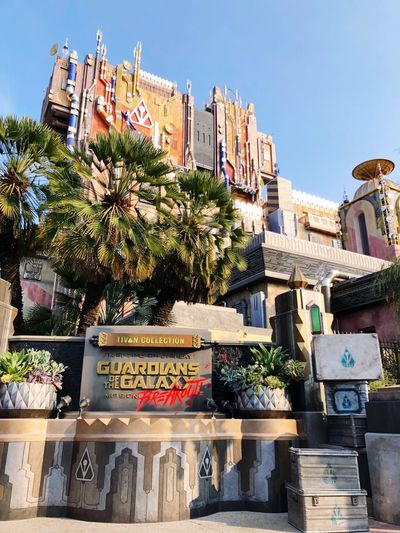 California Adventure Park Architecture Building Exterior Built Structure Plant Sunlight Nature No People Building Choice Communication Clear Sky Sky Retail  Outdoors City For Sale Day Variation Tree Text