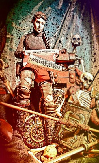 A moment of pause for Lara Croft among the relics and revenants. Tomb Raider  Laracrofttombraider Skeletons Photomanipulation Fan Art Lara Croft MobilephotographyAction Figures Lara Croft Style 😎 En Mode Lara Croft!