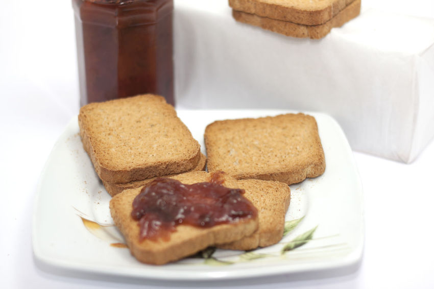 wholemeal rusks with jam Bread Close-up Day Ette Biscuits, Wholemeal Slices, Slices Of Bread, Slices, Plum Jam, Jam, Breakfast, Snack, Service, Breakfast, Slices With Jam, Food, Diet, Cereals Food Food And Drink Freshness Indoors  No People Ready-to-eat