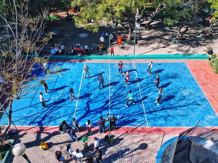 Jalisco Zapopan Swimming Pool Water Pool High Angle View Nature Day Sunlight Outdoors Sport Group Of People Lifestyles