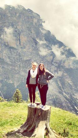 Switzerland Climbing A Mountain Posing Sisters Bffs Hanging Out Enjoying Life Hello World Hi! Mountains
