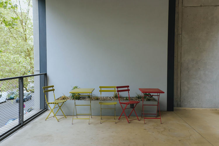 Chairs and tables outdoors