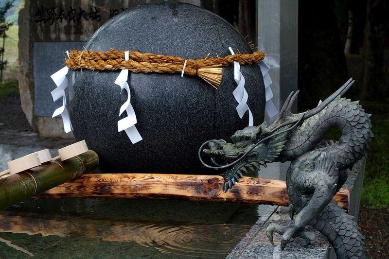 Close-up of a japanese sculpture