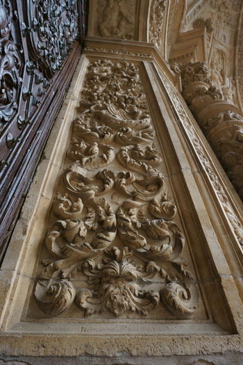 Abundance Art Astorga Carving - Craft Product Close-up Column Creativity Day Decoration Design Detail Door Entrance Famous Place Fine Art Leon Medieval Architecture Monument Mónica Nogueira. No People Ornate Perspective SPAIN Stone Wood - Material