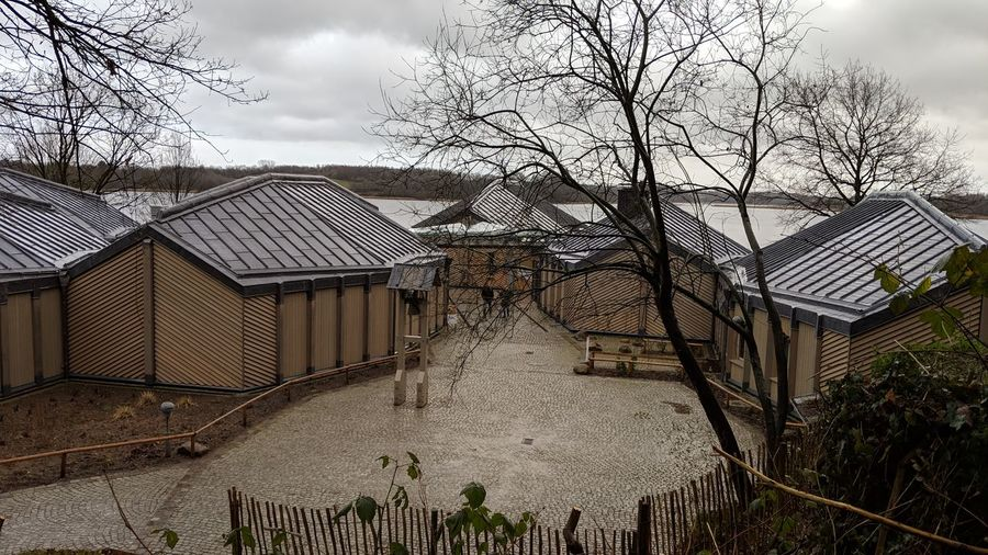 Haithabu museum in winter. Haithabu Haithabu Museum Wikinger Vikings  Viking Archeology History Culture Adventure Winter Tristesse Bare Tree Bare Trees Silence Simplicity Beauty In Nature Earthen Colors House Sky Architecture Building Exterior Built Structure Cloud - Sky