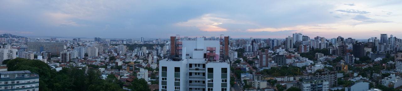 Buildings & Sky City City Escape Cloud Panoramic Panoramic Photography Porto Alegre Sunset