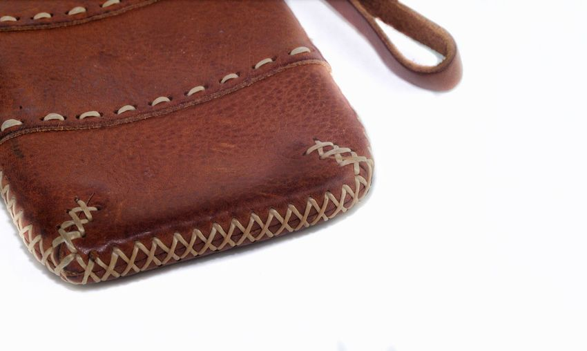 My leather mobile phone case Brown Close-up Leather Leather Art Leathergoods Leatherwork Leather Texture Texture Brown Bag Brown Case Brown Leather White Background White Goods Goods Leather Good Product Product Leather Product Brown Product Brown Thing