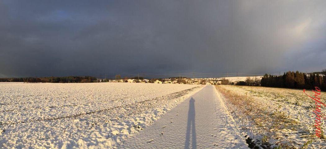 Regen oder Schnee ? Was kommt heute ? 💕💓 Cloud - Sky Landscape Schneefall Spazieren Und Fotografieren Wetter
